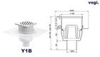 Kratka PIONOWA - INOX DESIGN - syfon MOKRY (2)