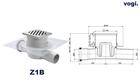 Kratka PRZELOTOWA - INOX DESIGN - syfon MOKRY (2)