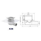 Kratka BOCZNA - INOX DESIGN - syfon SUCHY (2)