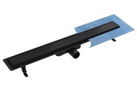 Odpływ standard z rusztem DUO CZARNY (pod płytkę)