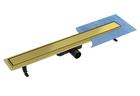 Odpływ standard z rusztem DUO ZŁOTY (pod płytkę) (1)